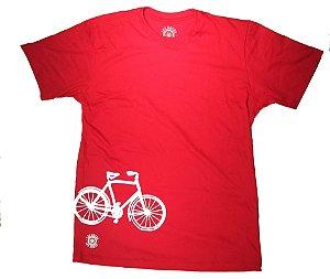 Camisa Ciclismo Casual Bike Vermelha 100% algodão