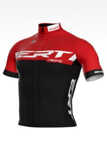 Camisa Ciclismo Ert Elite Racing Vermelha Preta Slim Fit Mtb