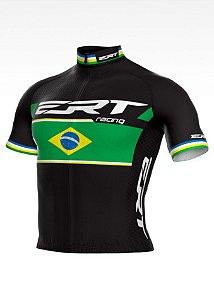 Camisa Ciclismo Elite ERT Racing Campeão Brasileiro Preto