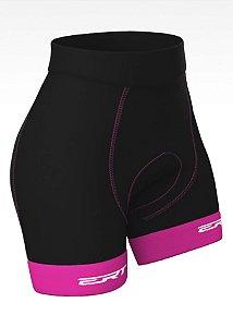 Bermuda Ciclismo Feminina Forro Gel Ert Rosa Bike MTB
