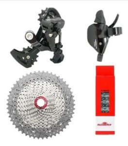 Kit Grupo Sunrace Absolute Bike 1x11v K7 11x50 Mtb