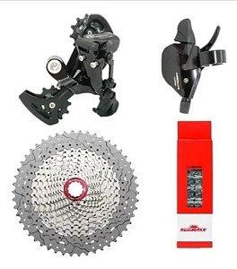 Kit Grupo Sunrace Absolute Bike 1x11v K7 11x50 Mtb