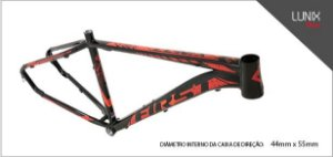 Quadro First Lunix Mtb Aro 29 Tapered Cabos Interno Fosco