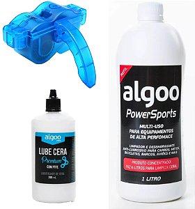 Kit Limpeza Desengraxante 1l + Óleo Algoo+ Limpador Corrente