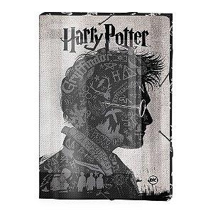 Pasta Aba Elástica Harry Potter - Ofício Lombo de 3 cm