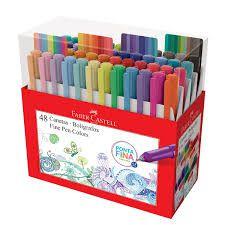 Caneta Fine Pen Colors - 48 Cores