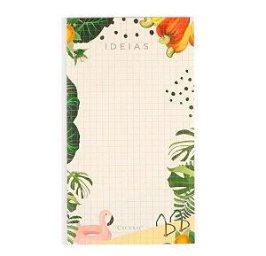 Bloco de Ideias Verão Quadriculado - Flamingo