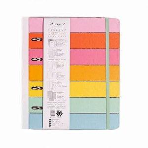Caderno Criativo Argolado Todas Juntas Pautado - Arco-iris