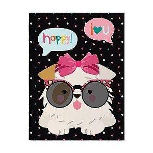 Caderno Pontado Happy Cachorro