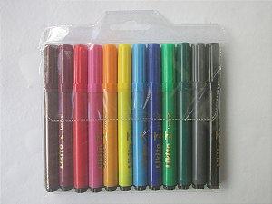 Canetinhas Hidrigraficas Jumbo - 12 cores