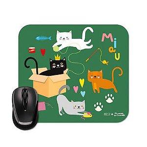 Mouse Pad Gatos Me Encanta