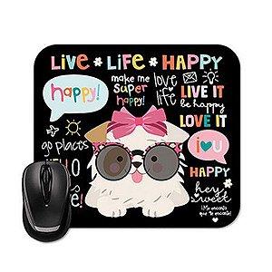 Mouse Pad Happy Cachorro Me Encanta