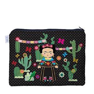 Necessaire Flat Frida Kahlo + Me Encanta - Make G