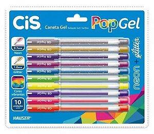Caneta Cis Pop Gel Estojo c/10 Cores