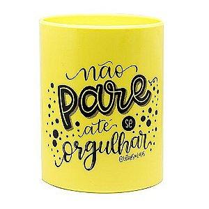 Porta Caneta Up Amarelo Pastel