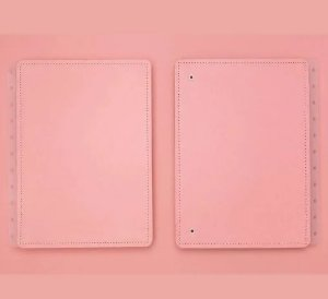 Capa e Contracapa para caderno  inteligente Rose Pastel - Médio