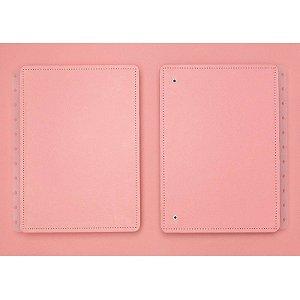 Capa e Contracapa para caderno inteligente Rose Pastel - Grande