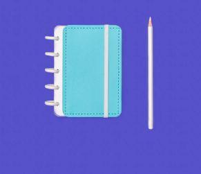 Caderno Azul Celeste - Inteligine