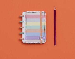 Caderno Arco-Iris Pastel - Inteligine
