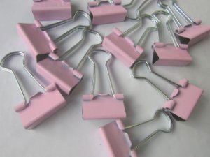 Binder Clips - Rosa