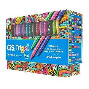 Caneta TRIGEL CIS 60 cores 1.0mm