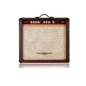 AMPLIFICADOR DE GUITARRA COM REVERB ONEAL MARROM OCG-400R-MR
