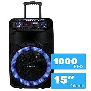 CAIXA AMPLIFICADA SUMAY THUNDER X 1000W BLUETOOTH SM-CAP18T