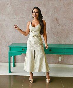 Vestido Sereia Listrada