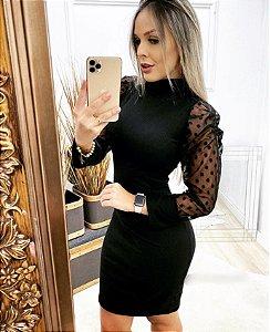 Vestido Tricô Poá