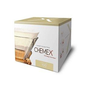 Filtro Chemex Grande Circular Pre Dobrado 100 Unidades