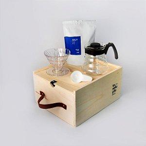 Kit Ritual Extração (Kit V60 + grão 250g + Caixa de Madeira)