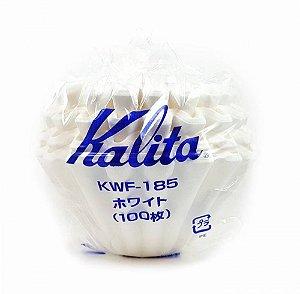 Filtro Kalita Wave 185 Papel Branco com 100un
