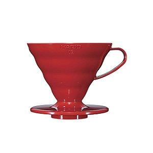 Suporte V60-02 acrílico vermelho