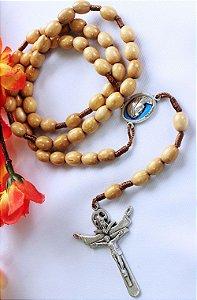 Terço Rainha da Paz - Conta Oval Marfim - Entremeio Medjugorje