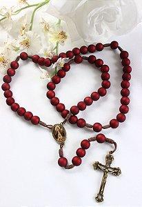 Terço Sagrado Coração de Jesus e Imaculado Coração de Maria - Ouro Velho