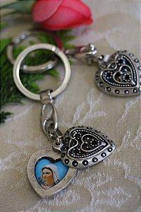 Chaveiro da Rainha da Paz - Coração - Medjugorje