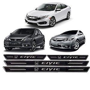 Soleira Honda Civic G8 G9 G10 2005 2006 2007 2008 2009 2010 2011 2012 2013 2014 2015 2016 2017 2018 2019 2020