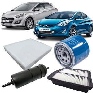 Kit Filtros De Ar Oleo Combustivel Cabine Hyundai I30 1.6 Flex Elantra 2.0 2013 2014 2015 2016 2017