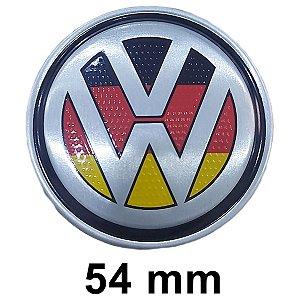 Emblema Volante Vw Alemanha 54mm Gol G2 G3 G4 G5 G6 G7 Voyage Saveiro Up Polo Golf Jetta Tsi Gti
