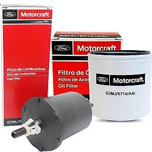 Kit Filtros De Óleo Combustível Ford Motorcraft New Fiesta Focus Ecosport New Ka 2014 2015 2016 2017 2018 2019 2020 2021