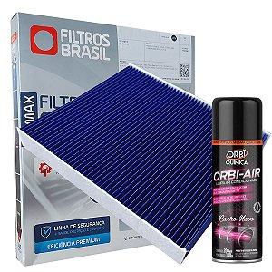 Kit Filtro De Cabine Ar Condicionado Antiviral + Higienizador Gm Onix Plus Cruze Após 2016 Equinox Tracker Turbo