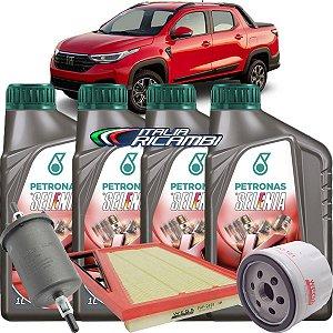 Kit Revisão Troca De Oleo 0w20 Selenia K Forward E FIltros Ar Óleo E Combustível Fiat Nova Strada 1.3 Firefly 2020 2021 2022