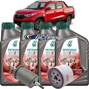 Kit Revisão Troca De Oleo 0w20 Selenia K Forward E FIltros De Óleo E Combustível Fiat Nova Strada 1.3 Firefly 2020 2021 2022