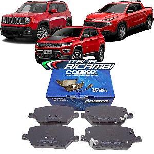 Jogo De Pastilhas Dianteiras Cobreq N1774 - Fiat Toro Jeep Renegade Compass 2015 2016 2017 2018 2019 2020