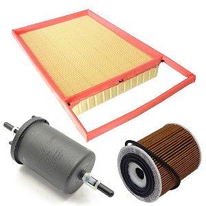 Kit filtros ar, óleo e combustível - Fiat Bravo Doblò Grand Siena Idea Linea Palio Punto Strada - Motores Etorq