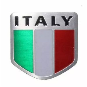 Escudo emblema adesivo em alumínio Itália - Fiat 500 Punto Palio Idea Linea Uno Siena Argo Cronos
