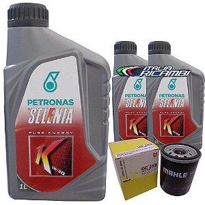 Kit troca de óleo Selenia K 5W30 e filtro - Fiat Palio Siena Strada Punto Uno Idea Fiorino e Mille