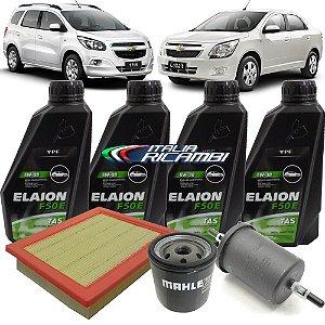 Kit troca de óleo 5W30 e filtros ar, óleo e combustível - GM Cobalt 1.4 1.8 de 2012 em diante e Spin 1.8 de 2013 em diante