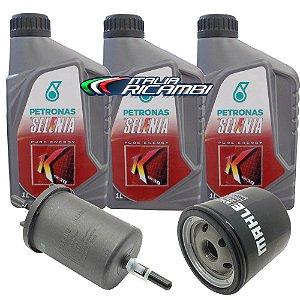 Kit troca de óleo Selenia K 15W40 e filtros de óleo e combustível - Fiat Fiorino Idea Palio Punto Siena Strada Uno
