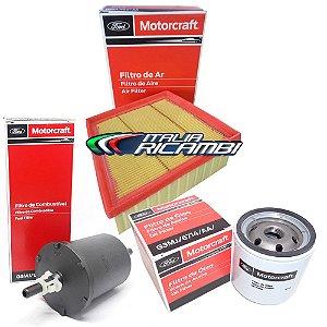 Kit filtros Ford Motorcraft ar, óleo e combustível - Ecosport, New Fiesta e Ka 1.0 12V, 1.5 16V, 1.6 16V Sigma
